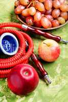 Shisha with grapes and apples
