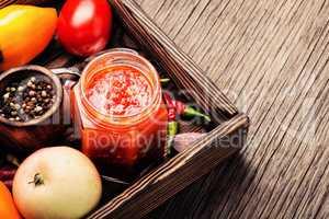 Spicy seasoning, adjika sauce