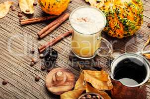 Pumpkin spice coffee or latte