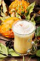 Pumpkin spice coffee with whipped cream