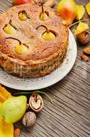 Homemade autumn pear cake