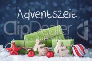 Green Christmas Gifts, Snow, Decoration, Adventszeit Means Advent Season