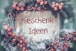 Christmas Garland, Fir Tree Branch, Geschenk Ideen Means Gift Idea