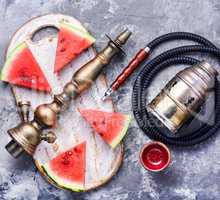 Oriental shisha with watermelon