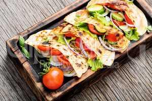 Vegetarian Pita Sandwich