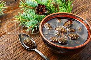 Jam from pine cones