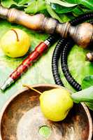 Eastern shisha with pear