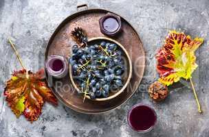 Glass of grape juice