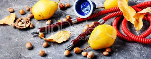 Turkish hookah with aroma pear