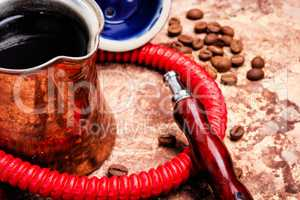 Hookah with aroma coffee
