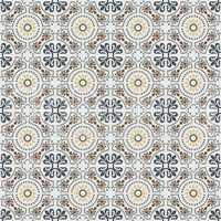 Vintage Mediterranean tiles style pattern