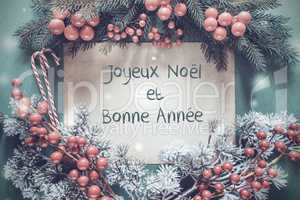 Christmas Garland, Bonne Annee Means Happy New Year