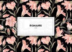 Floral pattern. Flower background. Floral greeting card design