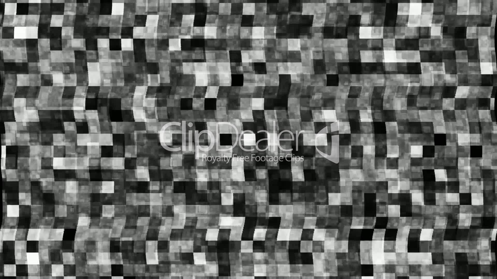 Broken Tv Screen With Black And White Noise Lizenzfreie Stock