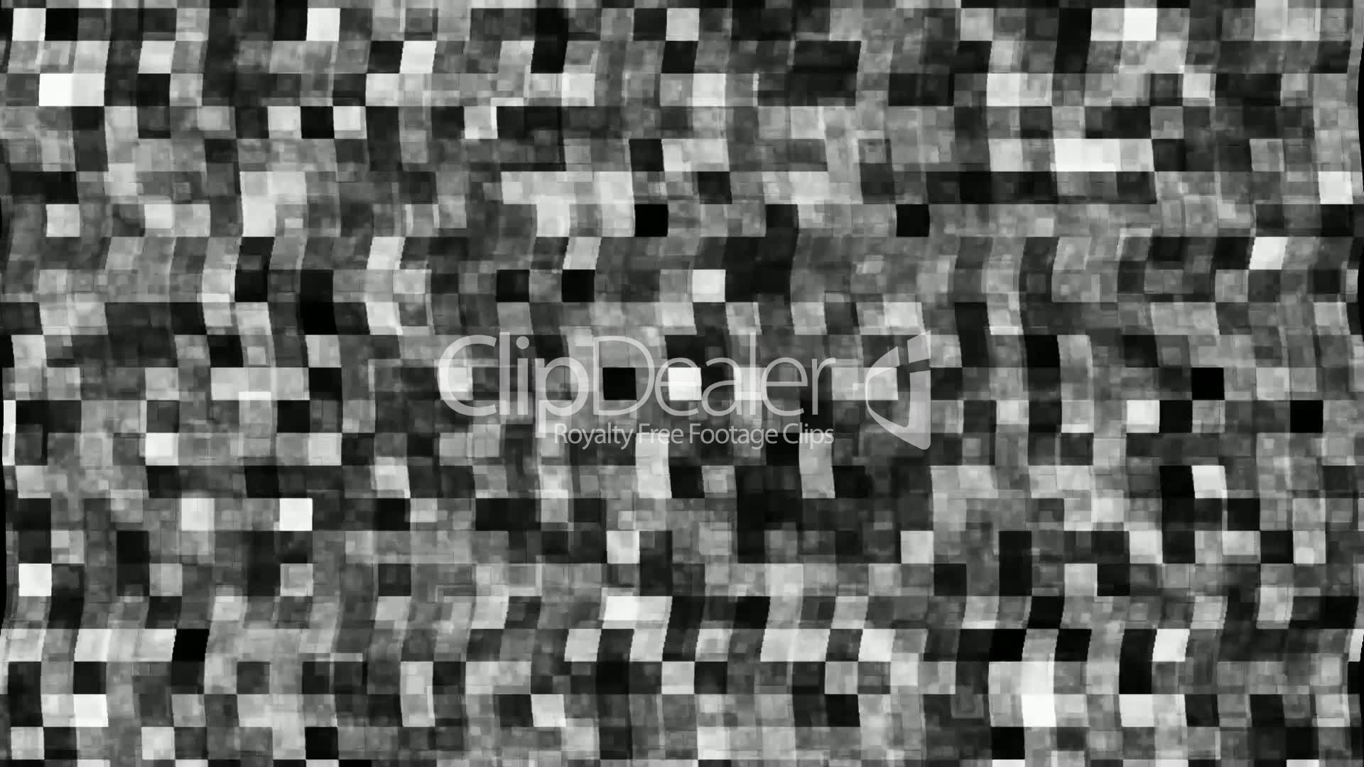 Broken TV screen with black and white noise: Royalty-free