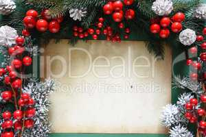 Christmas Decoration Like Fir Tree Branch, Copy Space