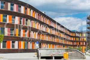 Colorful facade Federal Environment Agency in Dessau