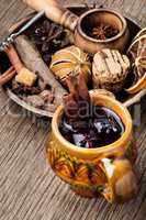 Traditional drink on winter holiday