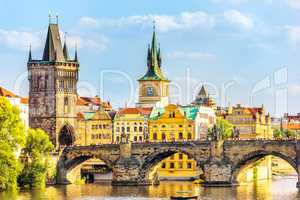 Charles Bridge, Old Town Bridge Tower and the Old Town Hall, Pra