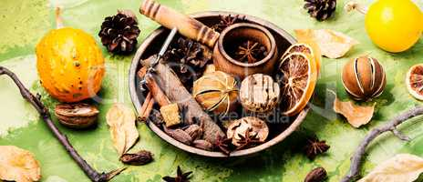 Ingredients for mulled wine