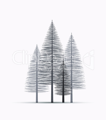 Natural background with silhouette of a trees