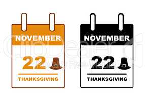 Thanksgiving day calendar