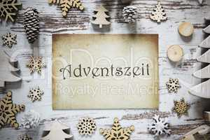 Rustic Christmas Decoration, Paper, Adventszeit Means Advent Season