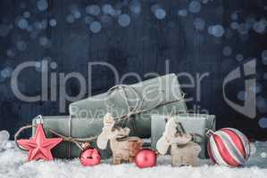 Christmas Decoration, Copy Space For Advertisement, Bokeh, Snow