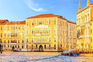 Ca' Foscari University of Venice and Palazzo Balbi in Grand Cana