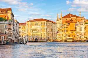 Grand Canal in Venice, view on Ca' Foscari University
