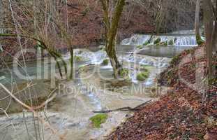 Bigar ponds in the form of cascade, Bigar creek, Kalna, Serbia