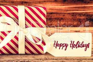 One Christmas Gift, English Calligraphy Happy Holidays