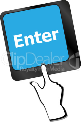 message on keyboard enter key, for online support concepts.