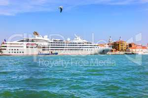 Cruise ship in the port of Venice, Italy