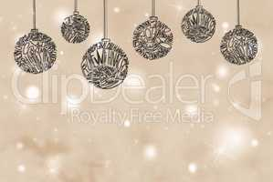 Christmas Tree Ball Ornament, Copy Space, Light Pink Background