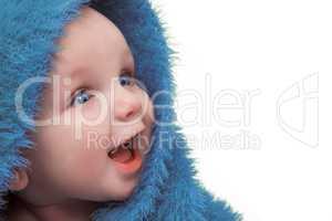 Baby In Blue Blanket