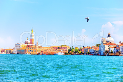 Grand Canal and the most famous sights of Venice, Italy