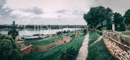 Danube river near Belgrade fortress