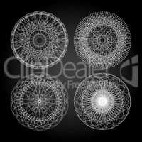 Mandala For Painting. Circle Ornament. Design Element. Guilloche