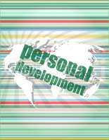 word personal development on digital screen