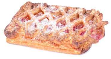 twist bun with jam isolated
