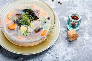 Dietary mushroom soup