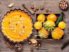 Autumn pumpkin pie