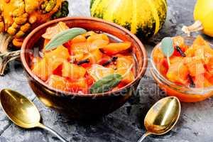 Fragrant orange pumpkin jam