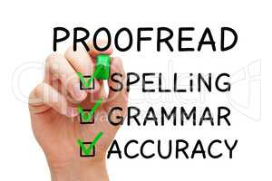 Positive Proofread Checklist Concept