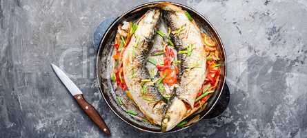 Appetizing baked fish