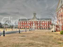Historical buildings and gardens at the Southeastern Baptist The