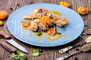 Chicken stewed with apricot