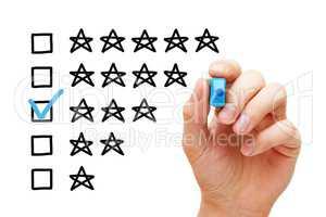 Three Star Average Rating Concept
