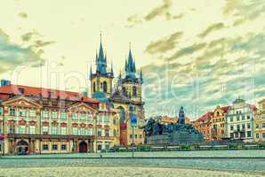 Old Town Square of Prague and its famous sights